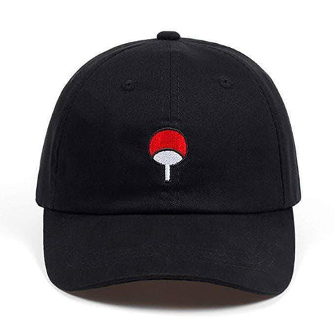Cotton Anime Naruto Hat Uchiha Embroidery Baseball Caps Black Hat Hip Hop