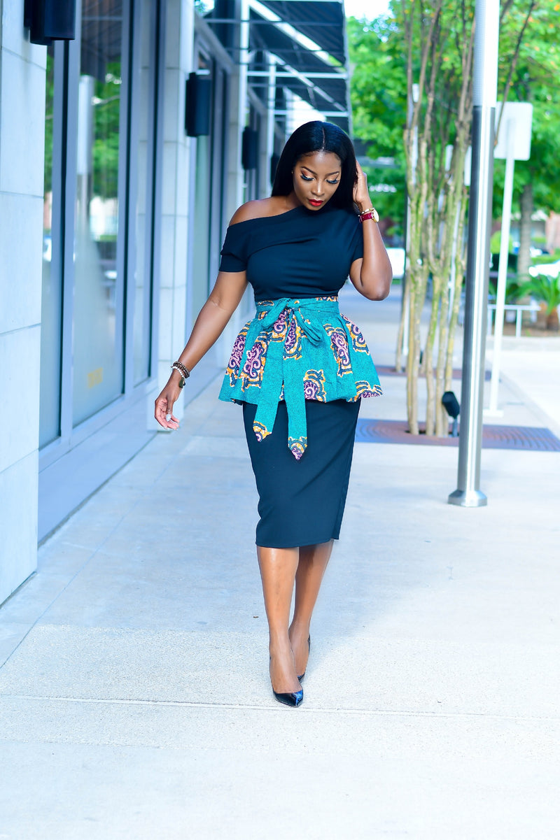 Sumi Peplum Wrap Belt | Accessories | Flair By Ashi