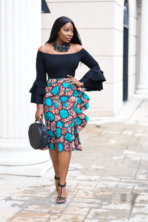 Dami 2 Ruffled Midi Skirt