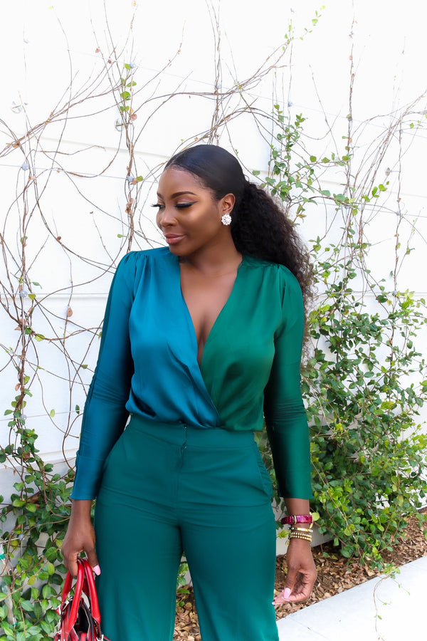 Green With Envy Two-toned Body suit