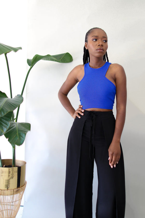 Paula Crop Top- Blue