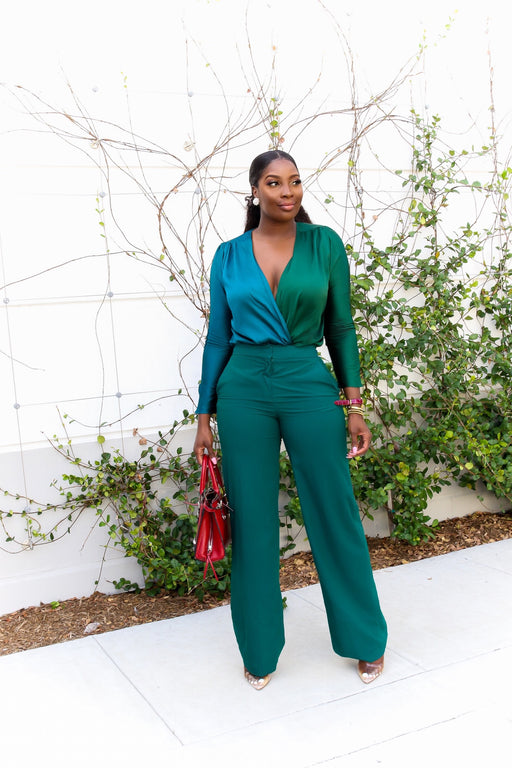 Green With Envy Two-toned Body suit | Tops | Flair By Ashi