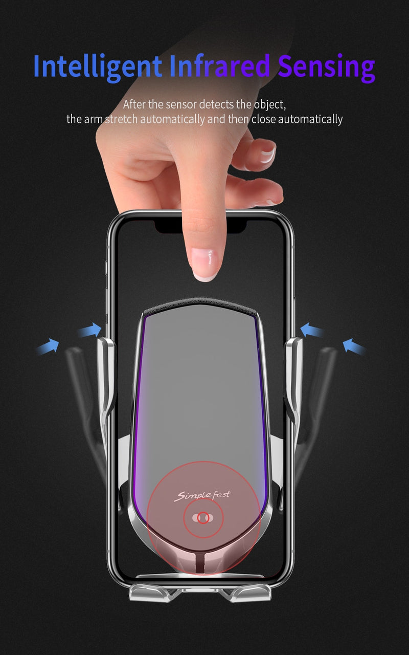 Wireless Car Phone Charger and Holder - FRANCIIS