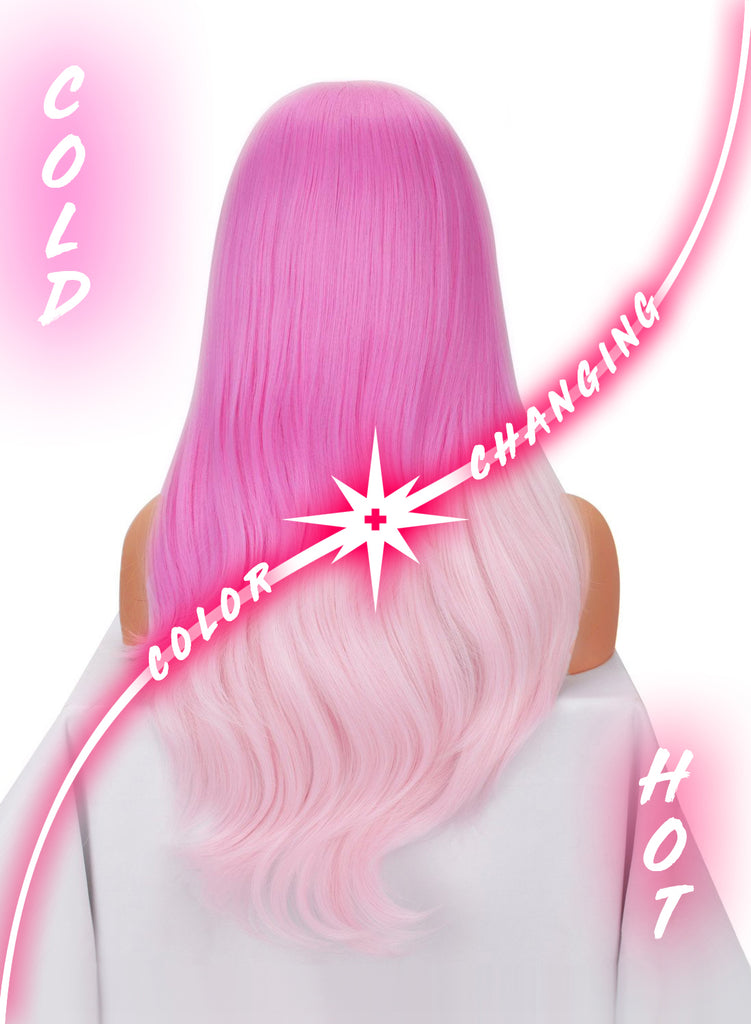 COLOR CHANGING PINK - Heat Sensitive Wig