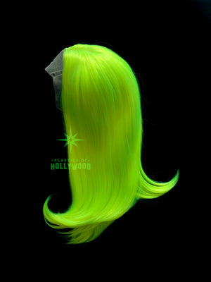 SUMMER HIGHLIGHT - Neon Yellow Green UV Glow Wig