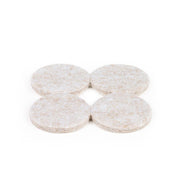 "1 1/2"" Diameter Heavy Duty Felt Pads - Beige, 72 Pieces"