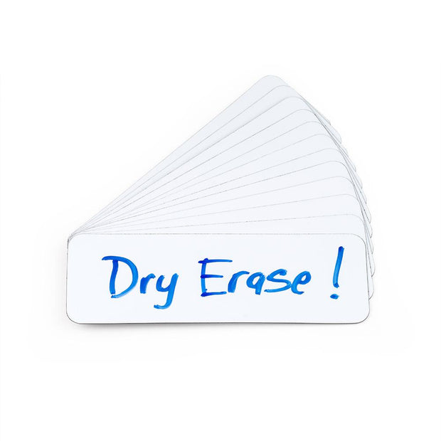 Dry Erase Magnetic Labels - 12 Pieces