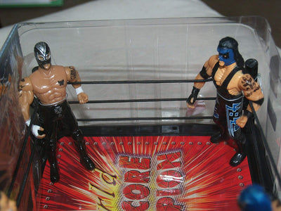 World Hardcore Champion Super Wrestling Movable Figures and Battle Ring with Accessories