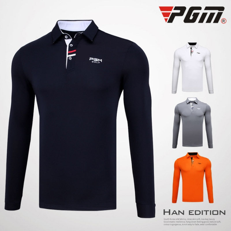 Long Sleeves winter warm soft Jerseys PGM Men's Golf shirts Outdoor Sports