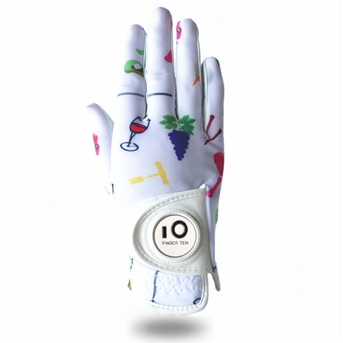 Ladies Golf Gloves Right Hand Left Non-Slip Ball Marker Gloves Classic Women Gloves Leather All Weather Grip Colorful 1 Pc