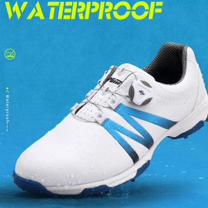 Golf Shoes Men 3D OUTDRY Waterproof Sneakers Breathable Non-slip Spiked Shoes Breathable Sports Training PGM Shoes Casual Shoes