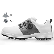 Load image into Gallery viewer, Golf Shoes Men Waterproof outdoor Sneakers Automatic Revolving Spikes