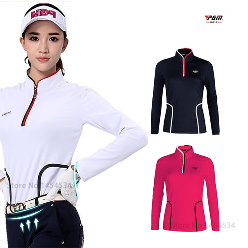 Ms Authentic Long Sleeve T-shirt Tops Girl Polo Shirt Women Quick Dry Clothes TT Design Apparel Female Train shirt Golf