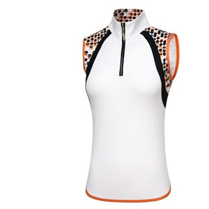 Pgm Women Golf Sleeveless Shirts Ladies Zipper Training Golf T-Shirt Summer Breathable Quick-Dry Vest Clothing A7106
