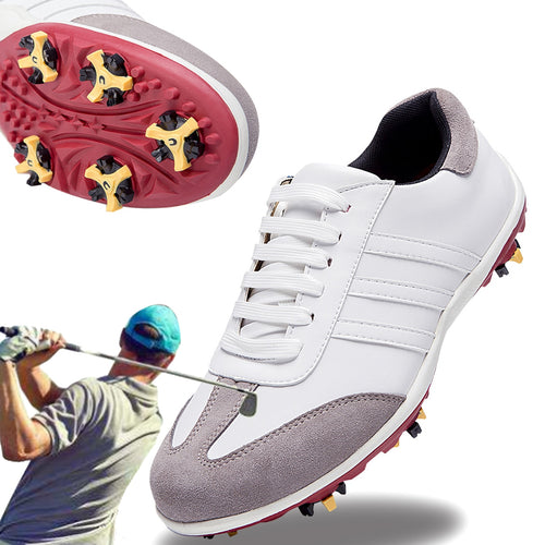 Golf Shoes Men Waterproof outdoor Sneakers Automatic Revolving Spikes Non-slip Breatheble Galf Shoe  Nail Automatic Revolving 44