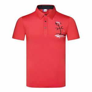 Men Short sleeve Collar Sport Golf T-shirt 4 colors Breathable Golf clothes