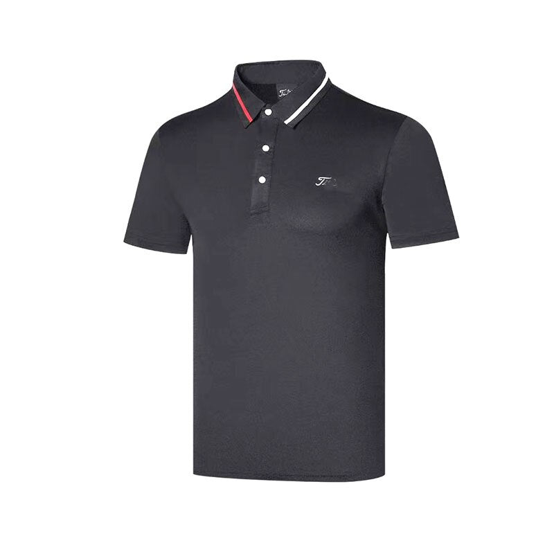 Men's Summer Golf T-Shirt with Moisture-wicking Anti-UV Golf T-Shirt