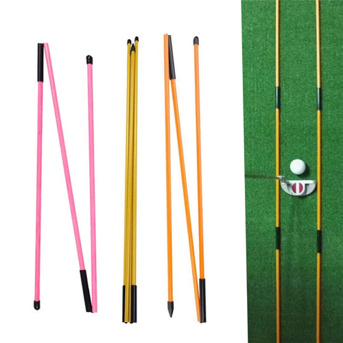 New Three-fold Direction Indicator Golf Equipment Golf Indicator Stick Putter Auxiliary Trainer