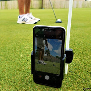 Golf Swing Recorder Holder Cell Phone Clip Holding Trainer Practice Training Aid