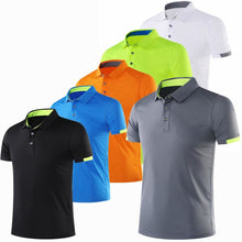 Load image into Gallery viewer, Fashion T Shirt Running Men Quick Dry breathable T-Shirts Running Slim Fit Tops Tees Sport Fitness Gym golf Tennis T Shirts Tee