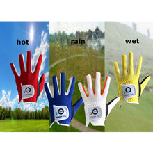 Load image into Gallery viewer, 2 Pack Golf Gloves Junior Kids Youth Toddler Boys Girls Dura Feel White Blue Red Yellow Left Hand Right Hand