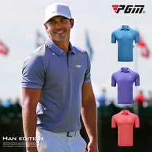 Load image into Gallery viewer, PGM Golf Apparel Men Tshirt Short Sleeve Golf Tops Quick Dry Sport Polo Shirt Mens Breathable Training Sportswear