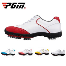Load image into Gallery viewer, Golf Shoes Womens White Fashion Sports Shoes Waterproof Non-slip Training Shoes Ladies Active Nail Soles Breathable Sneakers