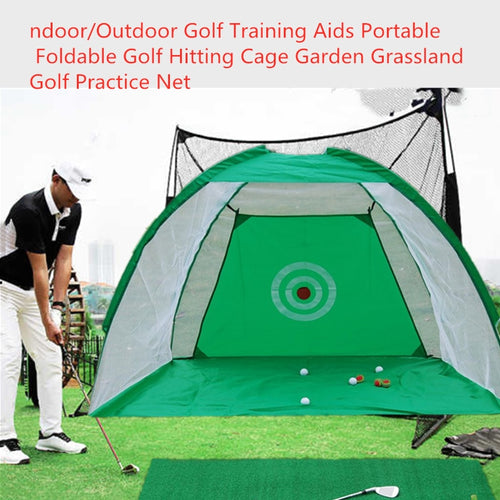 SALE Indoor Outdoor Golf Training Aids Portable Foldable Golf Hitting Cage Garden Grassland Golf Practice Net