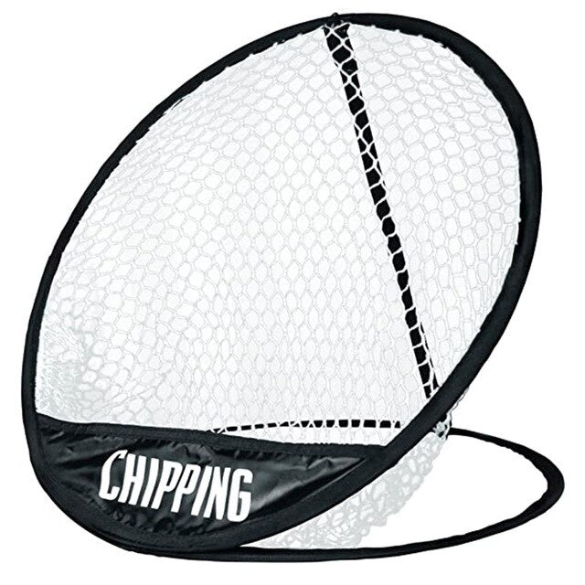 Portable Pop up Golf Chipping Pitching Practice Net Training Aid Tool Metal Memory Storage Easy Foldable with Carry Bag
