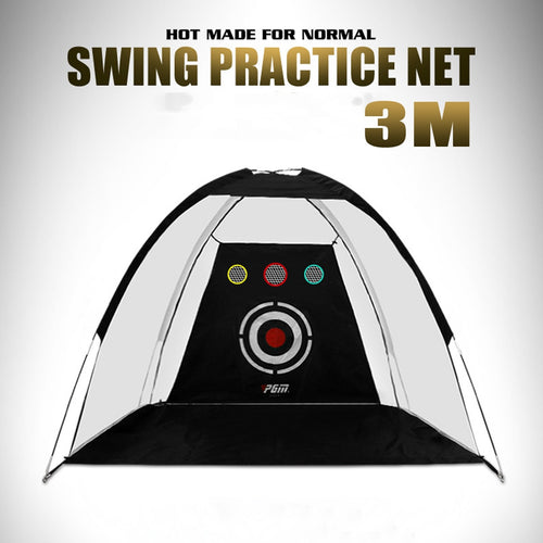 2m/3m Indoor Golf Training Net Foldable Hitting Target Tent Cage Practice Driving Soccer Durable Polyester Oxford Cloth