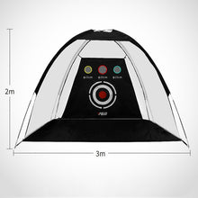 Load image into Gallery viewer, 2m/3m Indoor Golf Training Net Foldable Hitting Target Tent Cage Practice Driving Soccer Durable Polyester Oxford Cloth