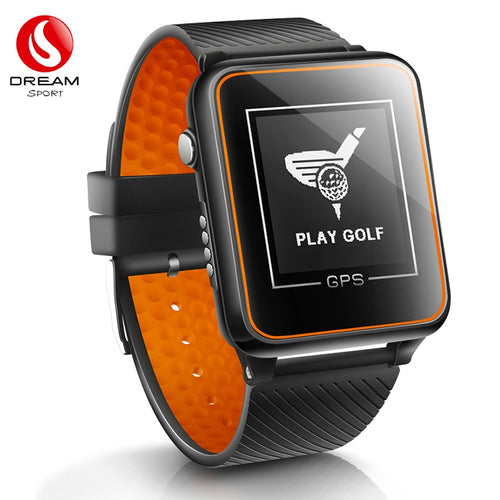 DREAM SPORT Golf GPS Watch with+40000 Golf Course,Golf Tracking with Yardage Distance/Hazard/Range Finder/Score Card DGF4 Orange