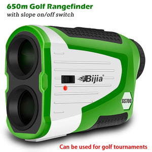 BIJIA Golf Rangefinder Laser Distance Meter 700Y Range Finder Flag Lock Clope Correction and On/Off Switch Rechargeable Battery