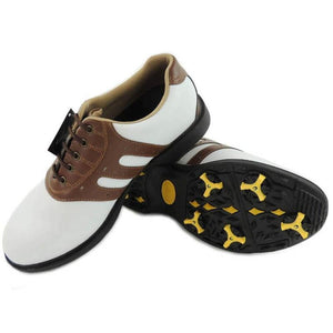 Slip Resistant Leather Golf Shoes