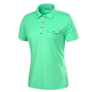Breathable Women's Golf Polo Shirt