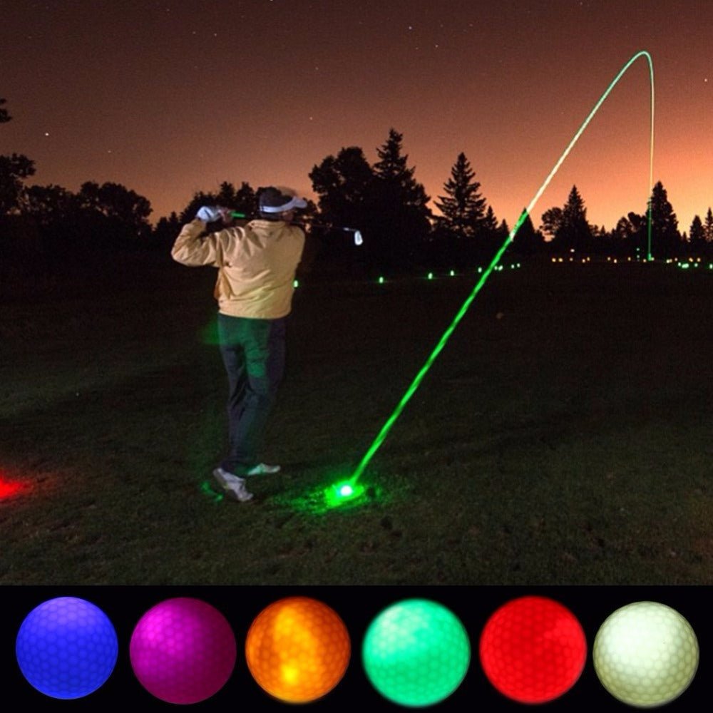 Glow Flashing In the Dark Night LED Light Up Golf Balls Multi Color Training Golf Balls