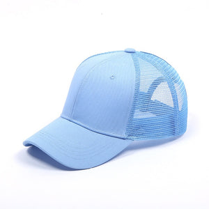 Tennis Cap Women Sport Hat Summer Messy Bun Mesh Hats