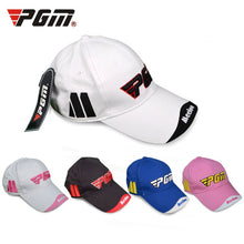 Load image into Gallery viewer, PGM Summer Sports Cap Men Women Cotton Golf Cap Adjustable Baseball Hat Sunscreen Breathable Quick-drying Leisure Running Hat