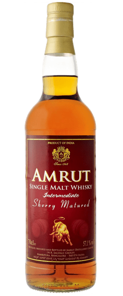 Amrut Intermediate Sherry Matured Cask Strength Single Malt Indian Whisky (700ml)