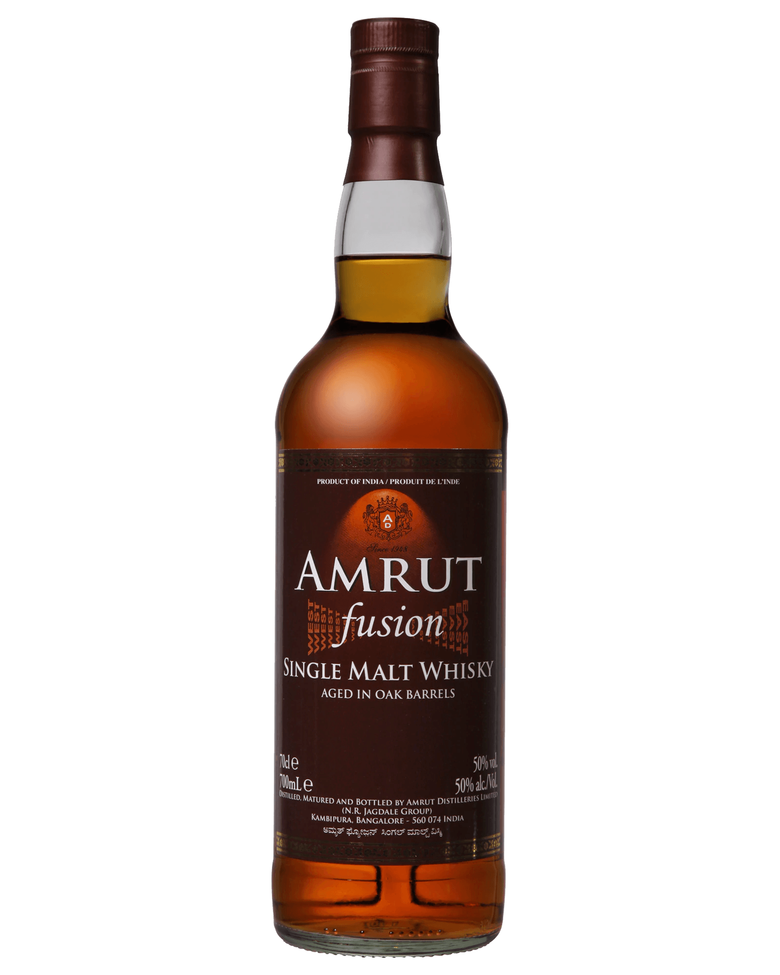 Amrut Fusion Single Malt Indian Whisky (700ml)