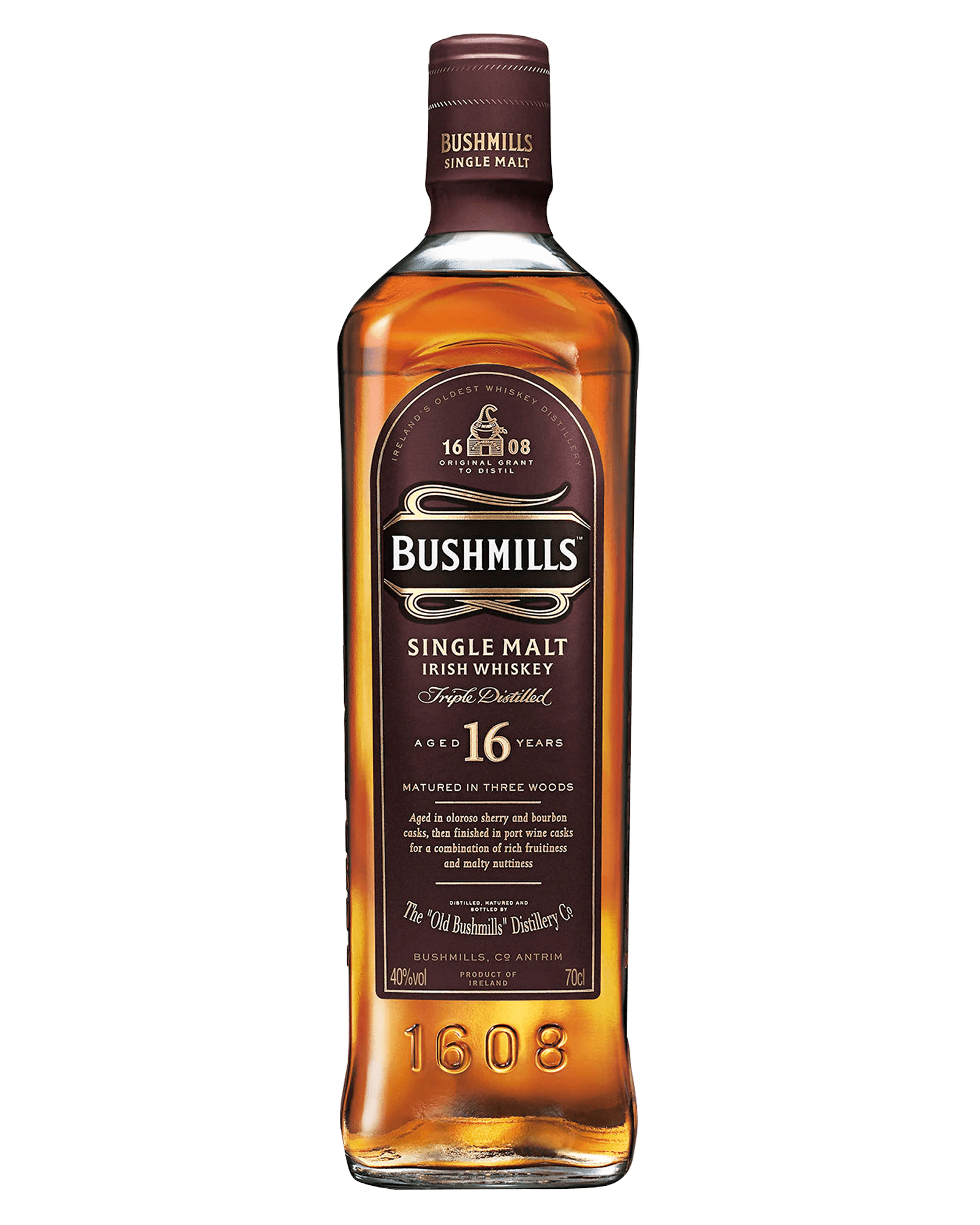 Bushmills 16 Year Old Single Malt Irish Whiskey (700ml)