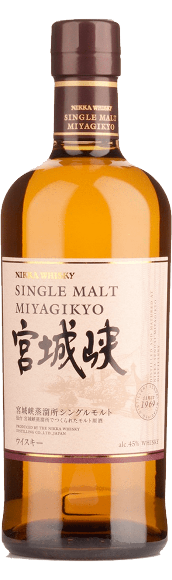 Miyagikyo Single Malt Japanese Whisky (700ml)