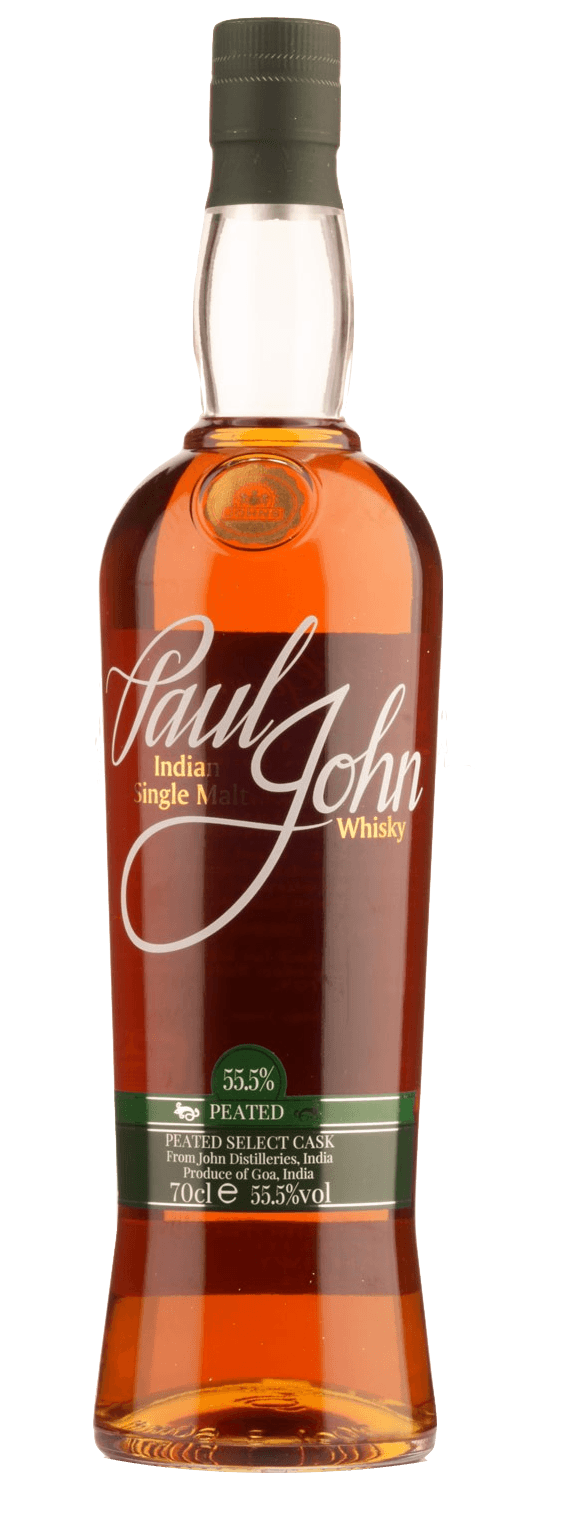 Paul John Select Cask Peated Cask Strength Single Malt Indian Whisky (700ml)