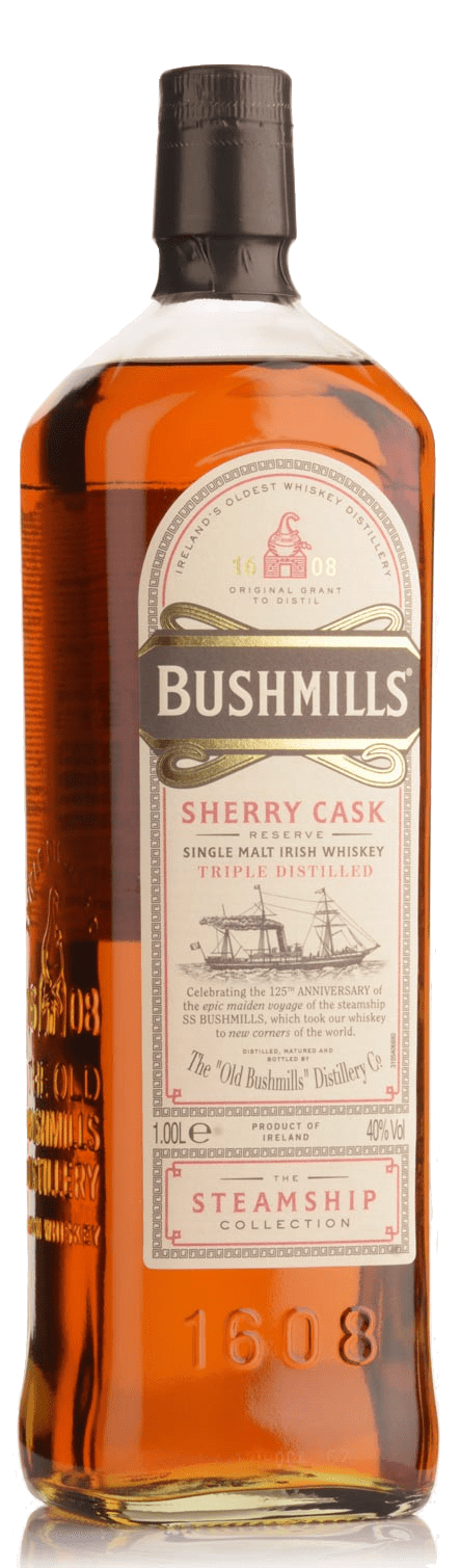 Bushmills Steamship Sherry Cask Single Malt Irish Whisky (1000ml)