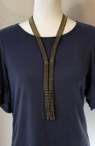Bella Necklace, Gold/Black