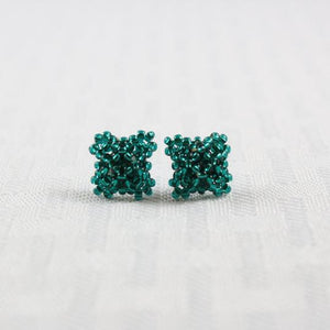 Crisscross Square Stud Earrings Collection