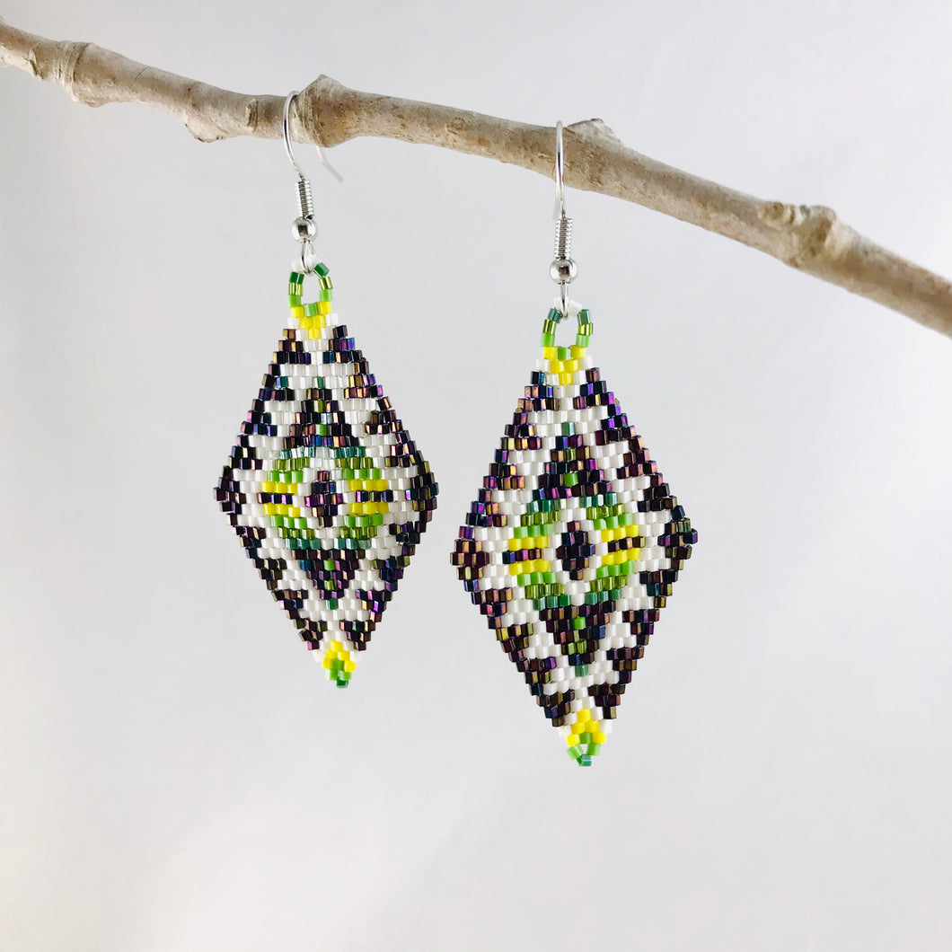 Aztec Dreams Earrings, Lime/Yellow