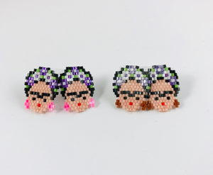 Frida Stud Earrings, Lavender Flower Crown