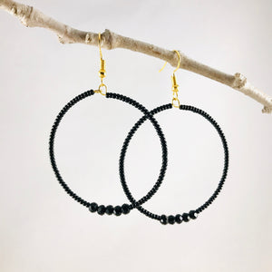 Perfect Hoop Earrings, Medium, Black
