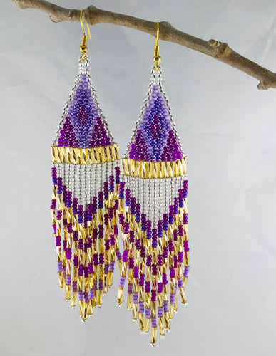 Ain't No Mountain High Enough Earrings, Silver/Lilac